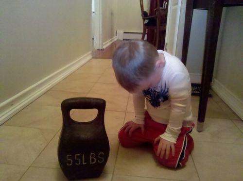 Lil kevin kneeling