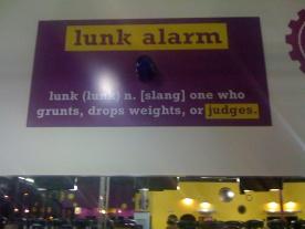 Lunk alarm at PF