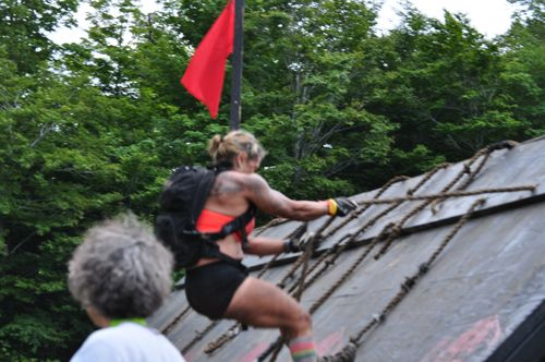 Lisa on spartan beast obstacle