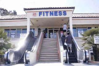 Escalator at gym