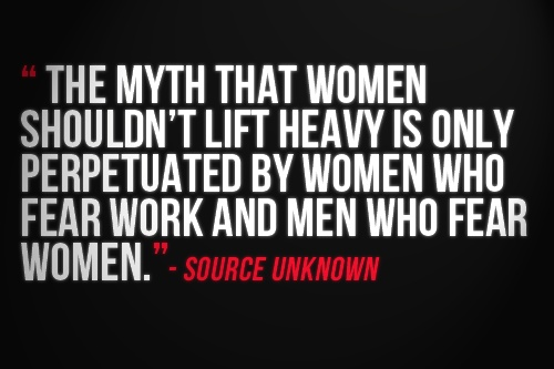 Myth women lift heavy