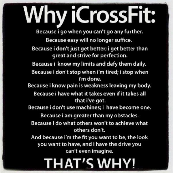 Why I CrossFit