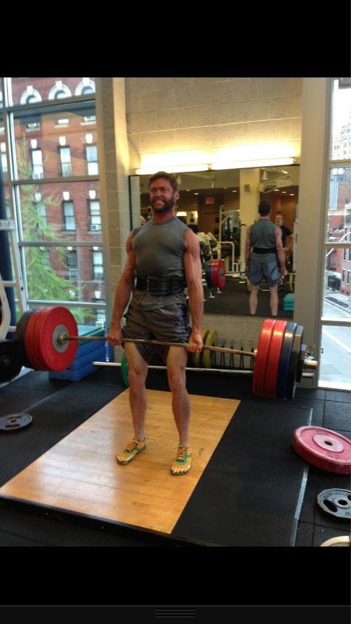Wolverine deadlifting